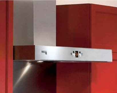 "German Pool RHS-6428 24"" Chimney-type SMART SENSE Rangehood (Gesture Control, Thermal Activation, Heated Self Cleaning)"