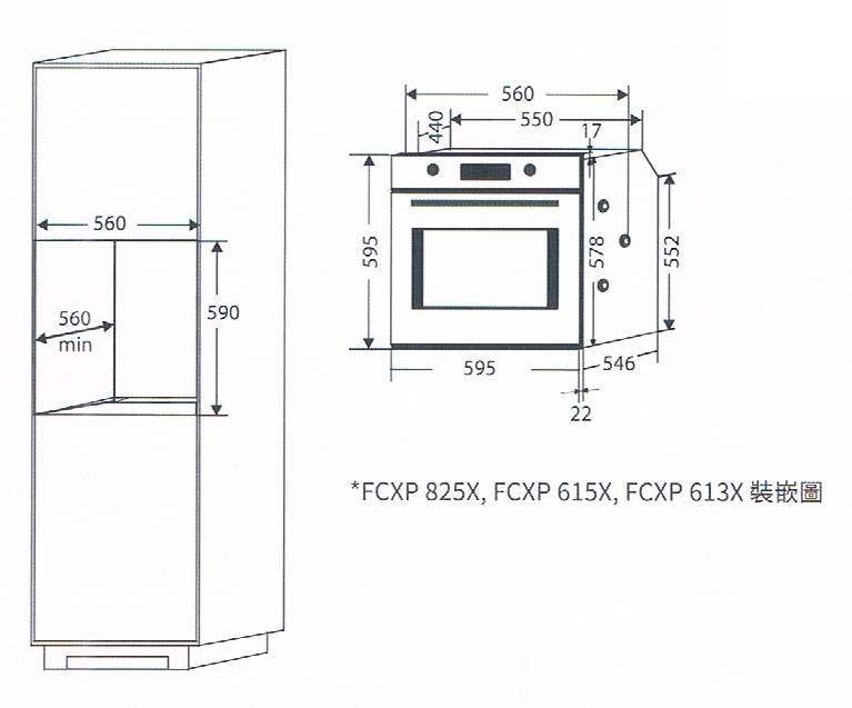 Candy FCXP613X 78-litre Built-in Oven