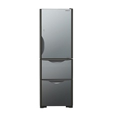 Hitachi R-SG38KPHX 375-Litre 3-Door Refrigerator (Crystal Mirror / Right Hinge)
